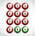 Stock Illustration of dial numbers illustration design balls