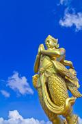 Mythical female bird with a human head in bangkok thailand Stock Photos