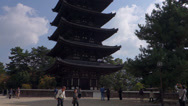 Stock Video Footage of Pagoda at Kofukuji in Nara