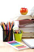 School and office supplies. back to school. Stock Photos
