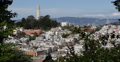 Ultra HD 4K Aerial View Coit Tower Lombard Street San Francisco City Skyline Footage