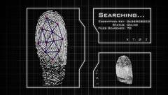 Fingerprint Scan, analysis, and database search Stock Footage
