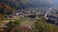 Stock Video Footage of Shirakawago from Shirayama