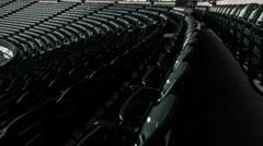 Empty Stadium Seats Reveal (Jeld Wen Timbers PGE Providence) Stock Footage