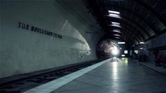 Portland MAX Train arrives at Washington Park underground tunnel - stock footage