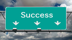 Road to Success - stock footage