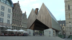 The amazing Stadshal (town hall) in Ghent (Gent), Belgium. Stock Footage