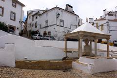 Fountain, castelo de vide, portugal Stock Photos