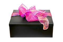 Purple gift angle Stock Photos