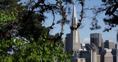 Ultra HD 4K San Francisco Skyline Transamerica Pyramid Iconic Famous Landmark Stock Footage