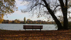 Bench river HD Stock Footage