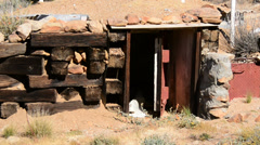 Abandon Mining Camp in the Mojave Desert - stock footage