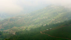 Magnificent himalayas mountain village view on a foggy day Stock Footage