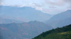 Magnificent himalayas mountain village view Stock Footage