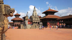 Bhaktapur Durbar Square, Kathmandu, Nepal Stock Footage
