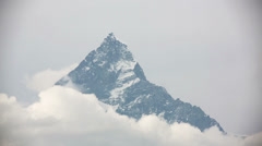 Machapuchare summit, annapurna view from pokhara Stock Footage