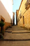world heritage caceres at spain - stock photo