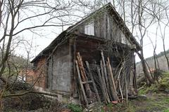 watermill shed - stock photo