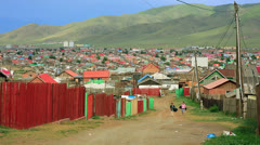 Mongolian Ger at Ulaanbaatar Suburbs Stock Footage