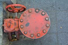 The water supply valve Stock Photos
