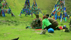 Stock Video Footage of Shaman ceremony, Ulaanbaatar, Mongolia,