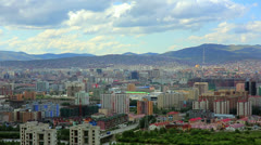 Ulaanbaatar cityscape, Mongolia Stock Footage