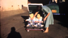 Vintage home movies, boomers Stock Footage