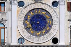 san marco zodiac clock - stock photo