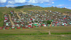 Tsetserleg City, Mongolia - stock footage