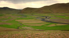 View of Orkhon Valley Stock Footage
