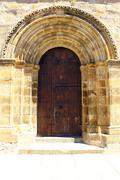 Detail of a door at alcantara, spain Stock Photos