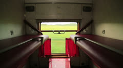 Empty trans siberian train compartment Stock Footage
