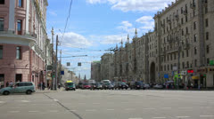 Ordinary day in moscow, russia Stock Footage