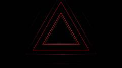 Stock Video Footage of Flashing Triangles VJ Loop (4)