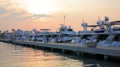 Yatchs in Marina, Bodrum, Turkey Stock Footage