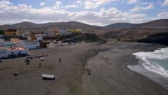 4k UHD people visit black ajuy beach time lapse 11207 Stock Footage