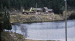 vintage home movies, Norway - stock footage