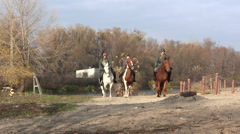 Reconstruction of  military scene period  1943 year  WW2 in Ukraine.   German so - stock footage