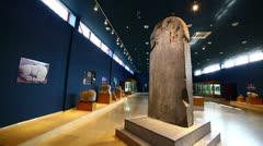 KULTEGIN'S MEMORIAL COMPLEX, MONGOLIA - JULY 2013: orkhon inscriptions, oldest Stock Footage