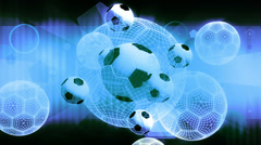 Soccer Looping Backdrop Stock Footage