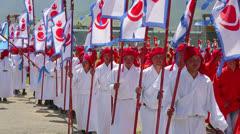 ULAANBAATAR, MONGOLIA - JULY 2013: Naadam Festival Opening Ceremony Stock Footage