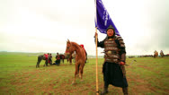 Stock Video Footage of ULAANBAATAR, MONGOLIA - JULY 2013: Naadam Festival Horse Archery Crew
