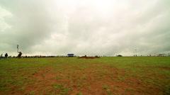 ULAANBAATAR, MONGOLIA - JULY 2013: Naadam Festival Horse Archery show Stock Footage