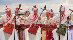 ULAANBAATAR, MONGOLIA - JULY 2013: Mongolian Music Performance - stock footage
