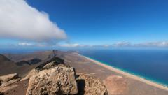 Time lapse panorama pan view fuerteventura 11220 Stock Footage