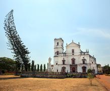 Old colonial church, Goa, India Stock Photos