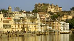 Everyday city scene in Udaipur, India Stock Photos