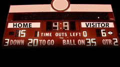 Generic High School Electronic Score Board Stock Footage