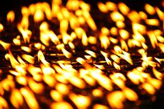 Candles burning at Boudhanath, Kathmandu, Nepal - stock photo