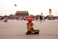 Stock Photo of Female tourist at Beijing, China